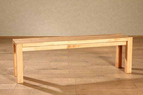 SAM® Massive Sitzbank Paul, 120 x 33 cm, Sitzplatz in naturfarbener Kernbuche lackiert, vielseitig einsetzbare Bank für Wohnzimmer oder Esszimmer, geeignet für zwei Personen