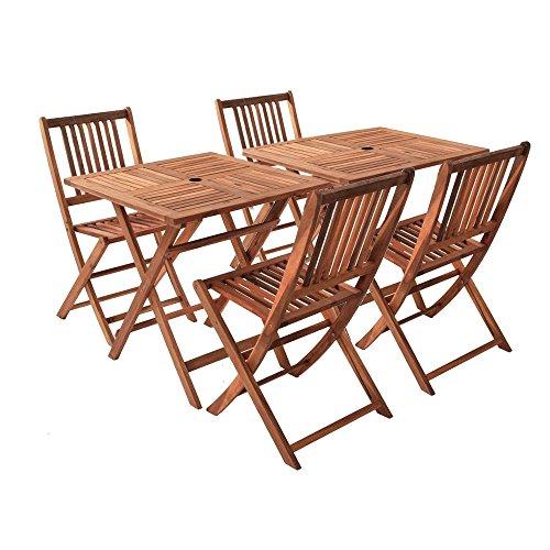sam gartengruppe blossom 1 6tlg akazienholz 2x tisch 4x klappstuhl zusammenklappbar tisch. Black Bedroom Furniture Sets. Home Design Ideas