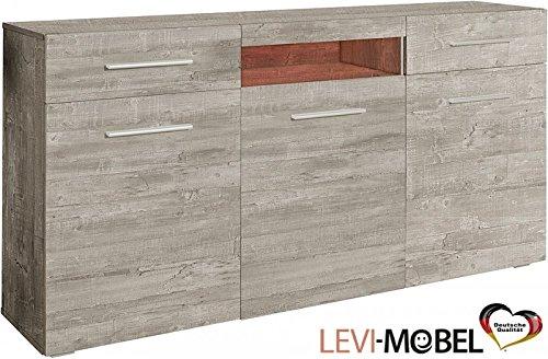 Generic Sideboard ANBAUWAND Wohnzimmer WOHNWAND Beton-Optik Matt Neu 745603