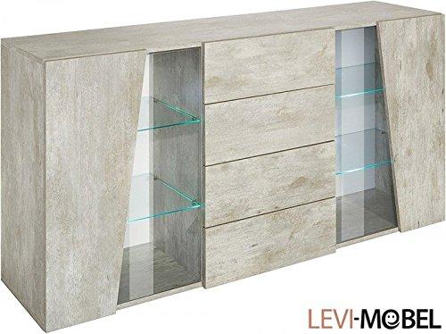 Generic Sideboard Wohnzimmer WOHNWAND Schrank Beton-Optik Matt Neu 794848