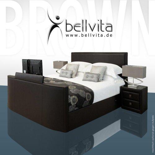 ORIGINAL bellvita LUXUS Wasserbett Mesamoll II mit ECHTLEDER-Bettrahmen und versenkbarem Flatscreen TV inkl. Montage (chocolate dunkelbraun, 180cm x 200cm)