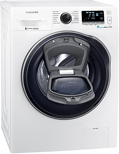 Samsung WW80K6404QW/EG Waschmaschine FL/A+++ / 116 kWh/Jahr / 1400 UpM / 8 kg/Weiß / Add Wash/WiFi Smart Control/Super Speed Wash/Digital Inverter Motor