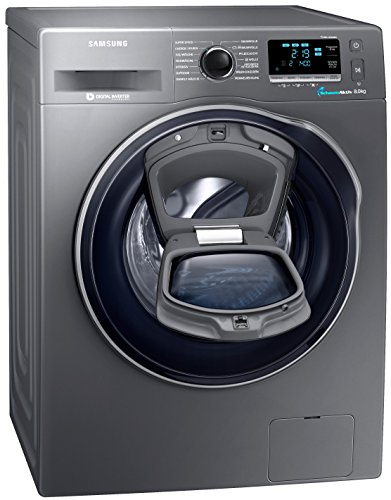 Samsung WW80K6404QX/EG Waschmaschine FL/A+++ / 116 kWh/Jahr / 1400 UpM / 8 kg/Add Wash/WiFi Smart Control/Super Speed Wash/Digital Inverter Motor/anthrazit
