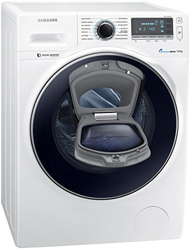 Samsung WW90K7405OW/EG Waschmaschine FL/A+++ / 151 kWh/Jahr / 1400 UpM / 9 kg/Add Wash/WiFi Smart Control/Super Speed Wash/Digital Inverter Motor/weiß