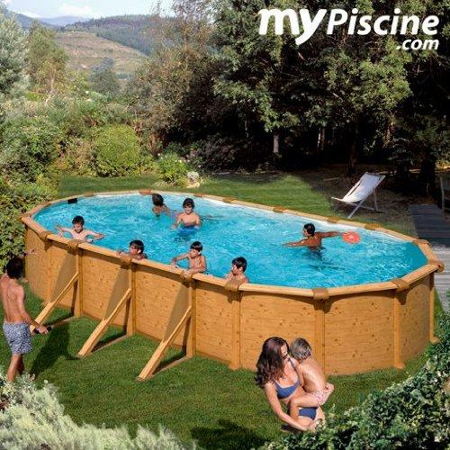 Gre kit500W–Pool oval 4seitenverstärkungen Dekoration Holz Maße: 500x 300H 120