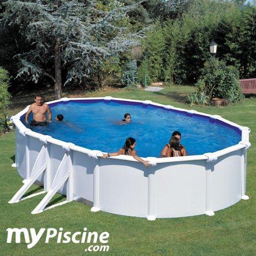 Unbekannt Gre m260856weiße–Pool Stahl Oval Fidschi kit730eco