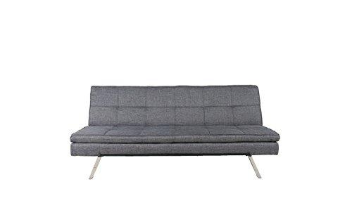 Schlafsofa Schlafcouch Sofa Couch Schlaffunktion Stoff Grau merliert