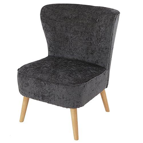 Mendler Sessel Malmö T313, Loungesessel Polstersessel, Retro 50er Jahre Design ~ Grau, Textil
