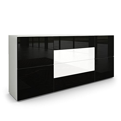 sideboard kommode rova korpus in wei matt fronten in. Black Bedroom Furniture Sets. Home Design Ideas