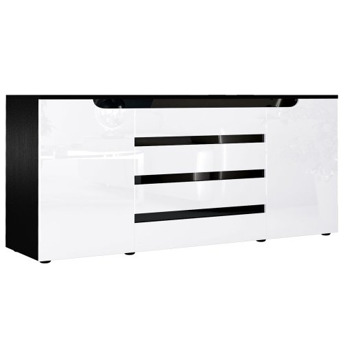 sideboard kommode sylt v2 korpus in schwarz matt front. Black Bedroom Furniture Sets. Home Design Ideas