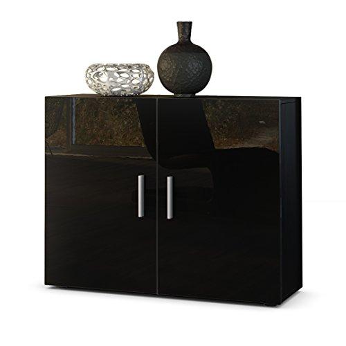 kommode sideboard vega korpus in schwarz matt front in. Black Bedroom Furniture Sets. Home Design Ideas