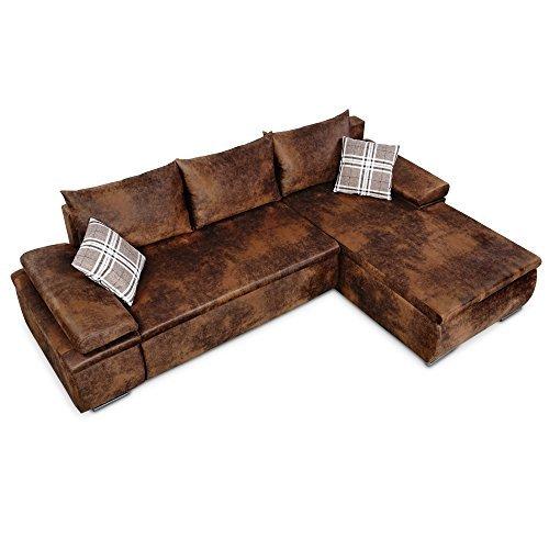 sino living wohnlandschaft cesaro vintage mit schlaffunktion und bettkasten m bel24. Black Bedroom Furniture Sets. Home Design Ideas