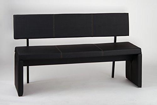 Sitzbank Leder-Optik mit Rückenlehne