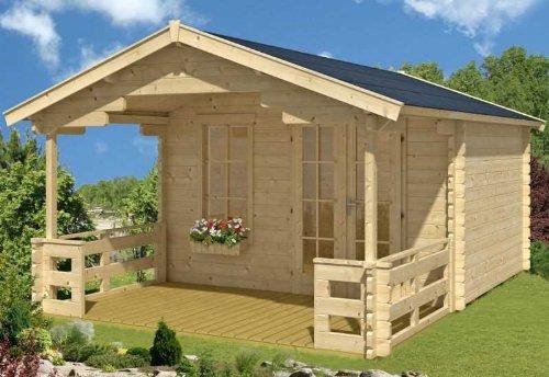 Skan Holz Blockbohlenhaus Langesund Größe 2, 340 x 300 cm