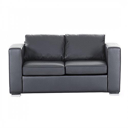 sofa schwarz couch ledersofa ledercouch lounge echtleder 2 sitzer helsinki m bel24. Black Bedroom Furniture Sets. Home Design Ideas