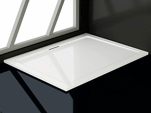 Soho Duschtasse aus Mineralguss Rechteckig 80x90, 80x100, 90x120, 90x140 cm Duschwanne, Maße: 80x120cm