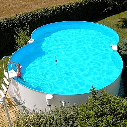 Stahlwandbecken 4,60x7,25x1,50m Einzelbecken Schwimmbecken achtform Pool