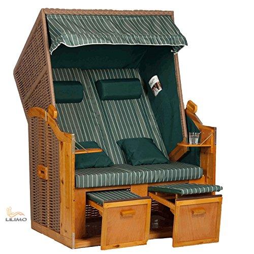 Strandkorb Ostsee 2in1 Convertible grün, inkl. Abdeckhaube, LILIMO ®
