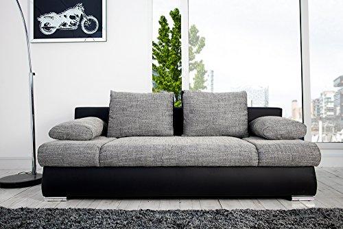 stylisches design schlafsofa orlando grau schwarz. Black Bedroom Furniture Sets. Home Design Ideas