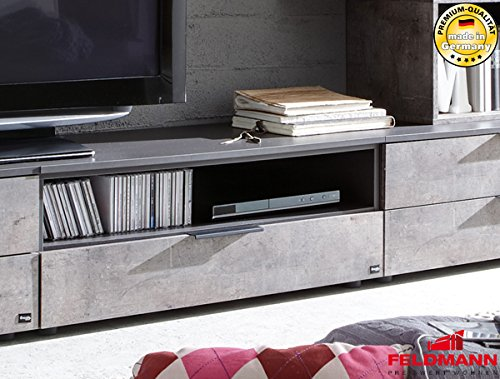 tv 792077 lowboard anrichte 90cm schwarz beton m bel24. Black Bedroom Furniture Sets. Home Design Ideas