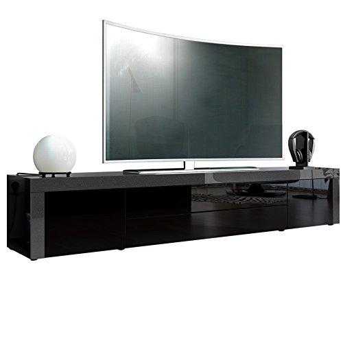 tv board lowboard la paz in schwarz hochglanz schwarz hochglanz. Black Bedroom Furniture Sets. Home Design Ideas