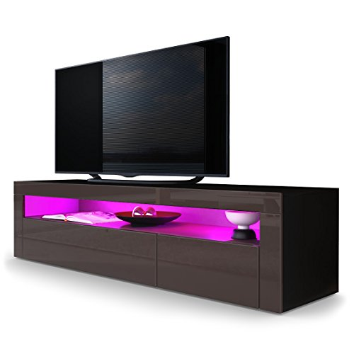 tv board lowboard valencia korpus in schwarz matt front. Black Bedroom Furniture Sets. Home Design Ideas