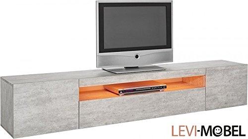 generic tv lowboard wohnzimmer wohnwand anbauwand beton optik matt neu 271605 m bel24. Black Bedroom Furniture Sets. Home Design Ideas