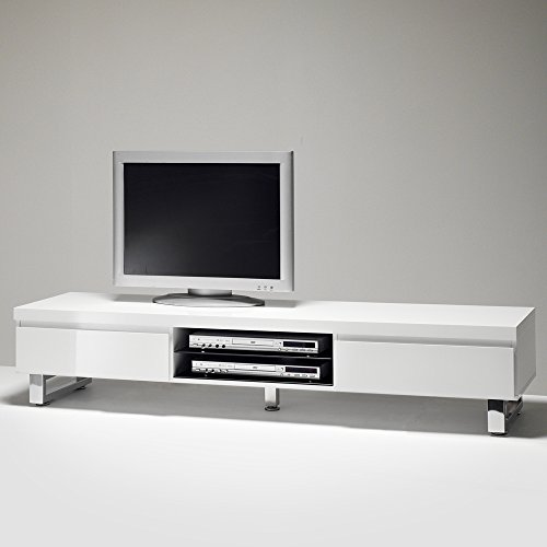 tv lowboard sydney kommode m bel media sideboard schrank hochglanz lack weiss m bel24. Black Bedroom Furniture Sets. Home Design Ideas