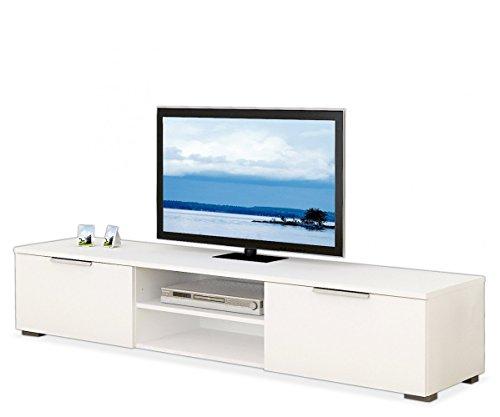 TV-Lowboard Fernsehschrank Fernsehtisch MICO | Weiß Hochglanz | 173x33x40 cm