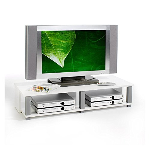 IDIMEX TV-Möbel Lowboard Fernsehtisch TV-Tisch TV-Element Gero, Weiß foliert