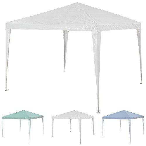 TecTake Pavillon Partyzelt Gartenzelt 3x3m - diverse Farben - (Weiß   Nr. 400931)
