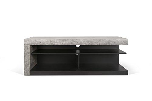 Temahome 9000.638800 Detroit TV Tisch Lowboard Wabekonstruktion, 130 x 45 x 45 cm, betonfarbig