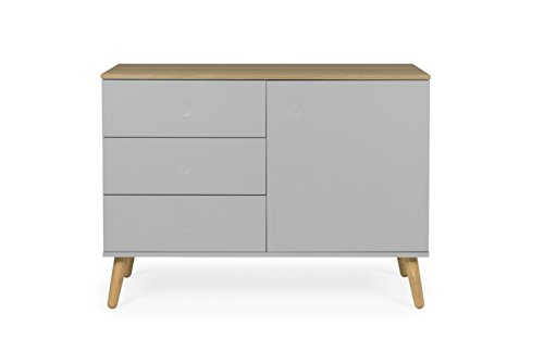 tenzo 1674 612 dot designer sideboard holz grau eiche 43 x 109 x 79 cm m bel24. Black Bedroom Furniture Sets. Home Design Ideas