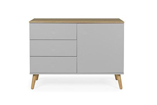 Tenzo 1674 612 dot designer sideboard holz grau eiche for Sideboard untergestell