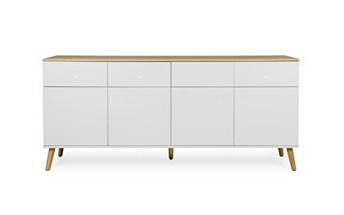 Tenzo 1678 454 dot designer sideboard holz wei eiche for Sideboard untergestell
