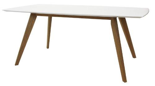 tenzo 2180-001 Bess - Designer Esstisch, 75 x 185 x 95 cm, weiß/eiche