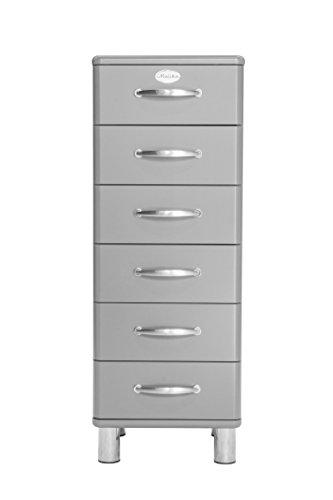 tenzo 5106-007 Malibu Designer Kommode, MDF Lackiert, 111 x 41 x 41 cm, alu