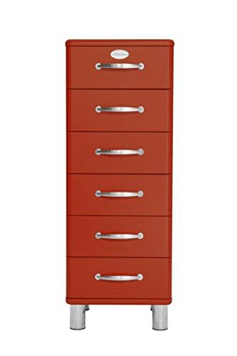 Tenzo 5106-028 Malibu Designer Kommode, MDF lackiert, 111 x 41 x 41 cm, rot
