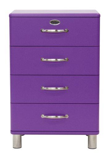 Tenzo 5116-040 Malibu - Designer Kommode 92 x 60 x 41 cm, MDF lackiert, violett
