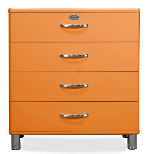tenzo 5124-017 Malibu - Designer Kommode 92 x 86 x 41 cm, MDF lackiert, orange