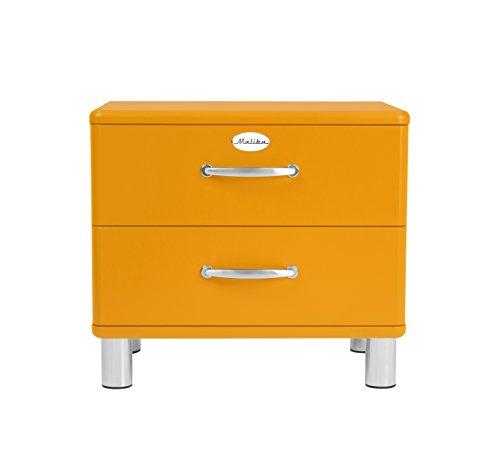 tenzo 5212-017 Malibu Designer Nachtkommode, MDF lackiert, 54 x 60 x 41 cm, orange