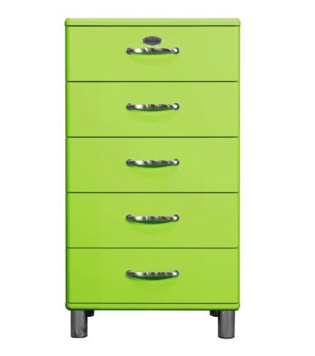tenzo 5215-021 Malibu, Designer Kommode, 111 x 60 x 41 cm, MDF lackiert, grün
