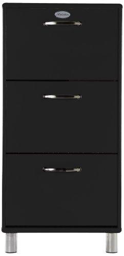 tenzo 5263-033 Malibu - Designer Schuhschrank 121 x 58 x 24 cm, MDF lackiert, schwarz