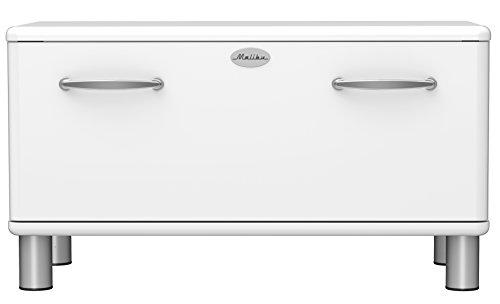 Tenzo 5291-005 Malibu Designer Garderobenbank, 47 x 86 x 41 cm, MDF lackiert, weiß