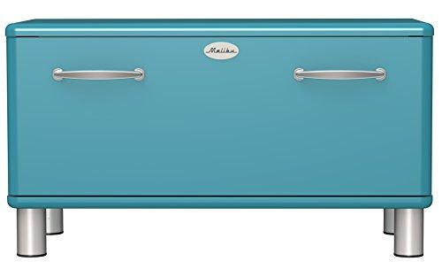 Tenzo 5291-016 Malibu Designer Garderobenbank, 47 x 86 x 41 cm, MDF lackiert, ocean
