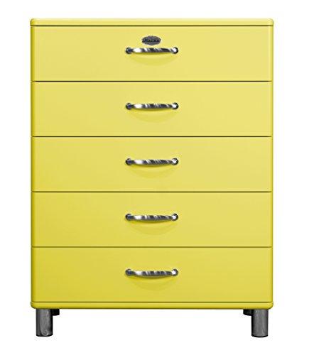 tenzo 5295-002 Malibu Designer Kommode, 111 x 86 x 41 cm, MDF lackiert, gelb