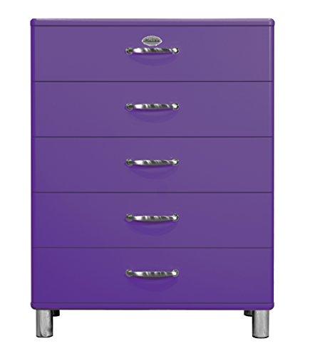 Tenzo 5295-040 Malibu Designer Kommode, 111 x 86 x 41 cm, MDF lackiert, violett