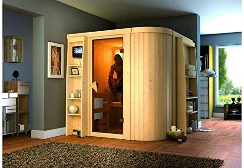 Titania 3 - Karibu Sauna inkl. 9-kW-Bioofen