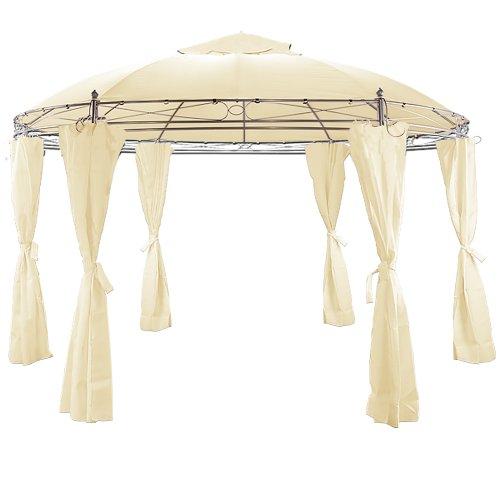 Toskana Pavillon 350 cm Doppeldach Baldachin + Seitenteile