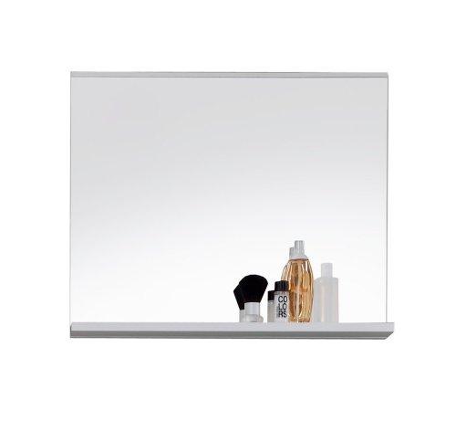 Trendteam Badezimmer Wandspiegel Mezzo, 60 x 50 x 10 cm in Weiß mit Ablageboden